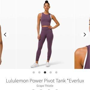 NWT Lululemon Power Pivot Tank *Everlux
